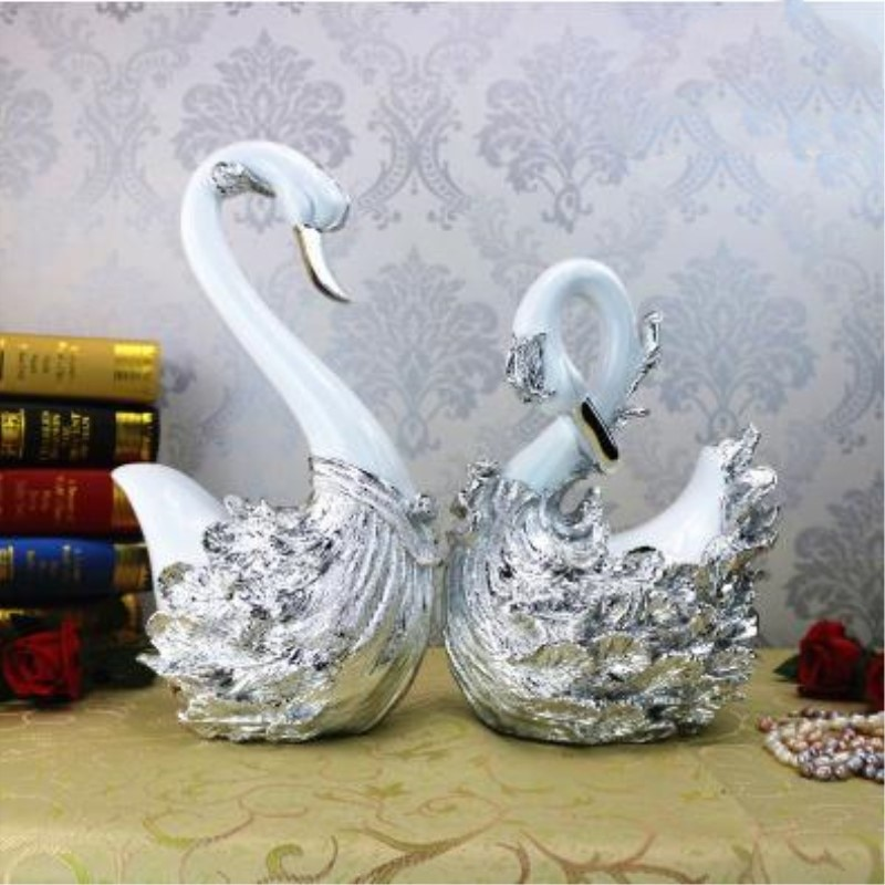 American creative home swan ornaments crafts, wedding gifts, beautiful love gifts