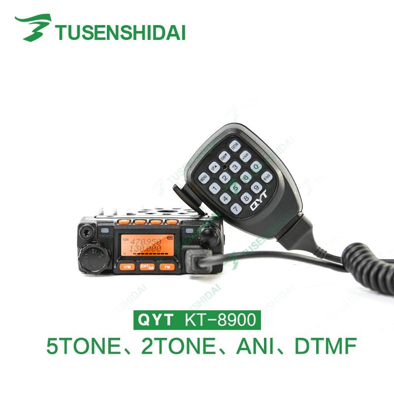 Transceptor móvel KT-8900-136 mhz/174-400 mhz do carro de 20 watts/uhf 25 watts do rádio vhf da faixa dupla mini 480