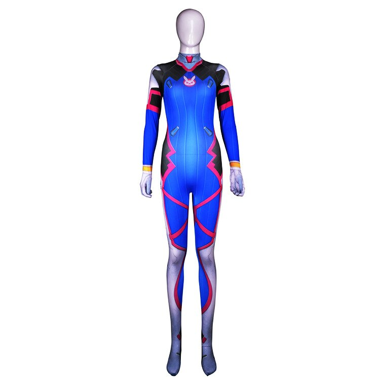 LZCMsoft D. VA Costume 3D Impressão Clássico dva Pele Catsuit Zentai Terno Trajes Cosplay Dia Das Bruxas dva Personalizado D. VA Bodysuit