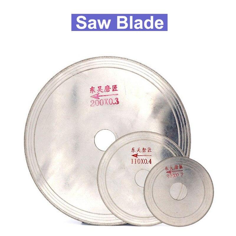Disco de corte de hoja de sierra de diamante ultrafino de 3/4/5/6/8 pulgadas disco de corte de piedra Ágata disco de corte de Jade 80-200