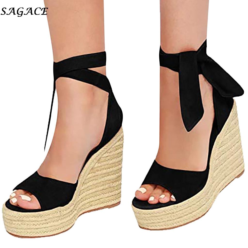 SAGACE sommer sandalen frauen mode Keile High Heels Sexy Peep-Toe Plattform sandalen Schuhe Frau casual Komfortable Damen schuhe