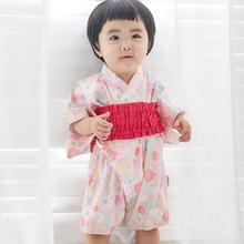 Kimono Baby Boys Girls Clothes Japanese Style Kids Romper Retro Bathrobe Uniform Clothes Infants Pajamas Floral Costume Y534