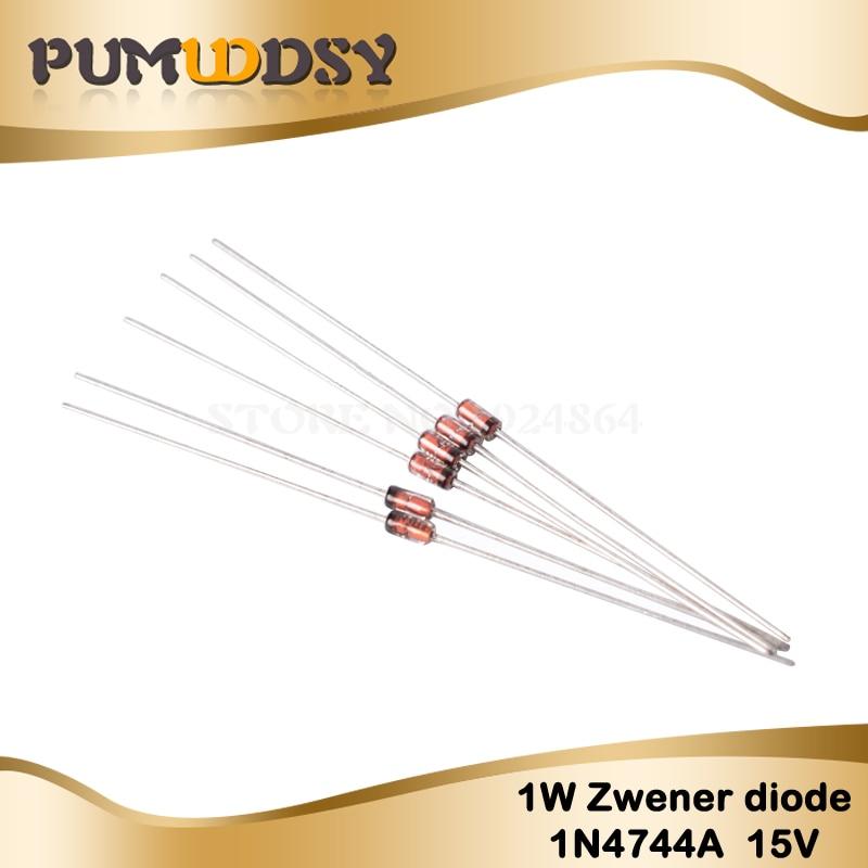 100PCS 1W 15V 1N4744A 1N4744 TUN-41 Zener diode