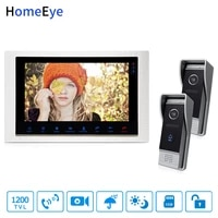 homeeye 10inch video doorbell video intercom motion detection osd menu touch button 2 1 security access system 1200tvl ir camera