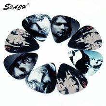 SOACH 10 pièces/lot 0.71mm dépaisseur célèbre chanteur producteur de musique superstar guitare choix guitare accessoires guitare sangle