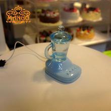 Mini Poppenhuis Scène model accessoires speelgoed mini mixer verse vruchtensap machine ketel twee kleuren optionele