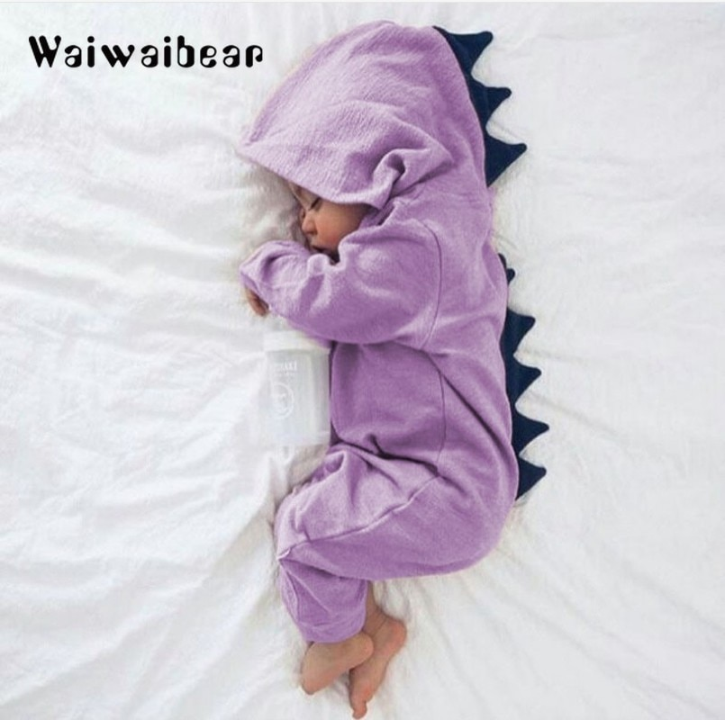patpat 2020 spring and autumn new baby dinosaur print long sleeves 0 1 years jumpsuit one pieces baby boy clothes New Arrival Baby Romper Long Sleeve Cotton Hooded Dinosaur Romper Baby Warm Spring Autumn Romper Zipper Jumpsuit Baby Clothes