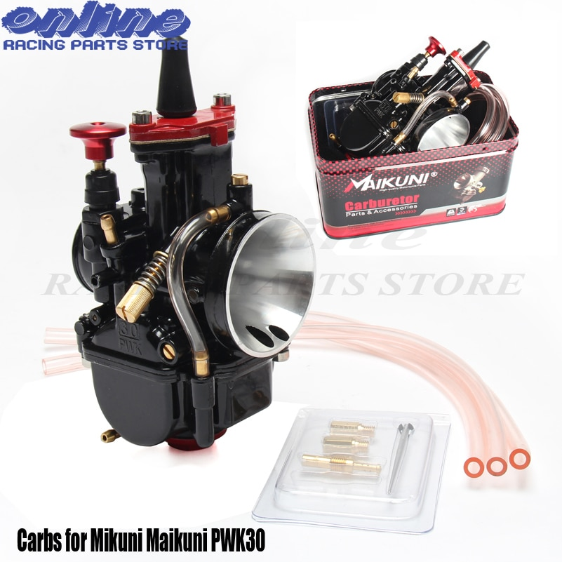 Universal 30mm Carbs para PWK30 Mikuni carburador Maikuni piezas 100cc a 150cc motor Scooters con Power Jet motocicleta ATV