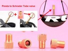 70 pcs/lot vélo pompe cycle Presta à Schrader Tube pompe pneu tube gaz Valve convertisseur pneu Valve adaptateur vélo accessoires