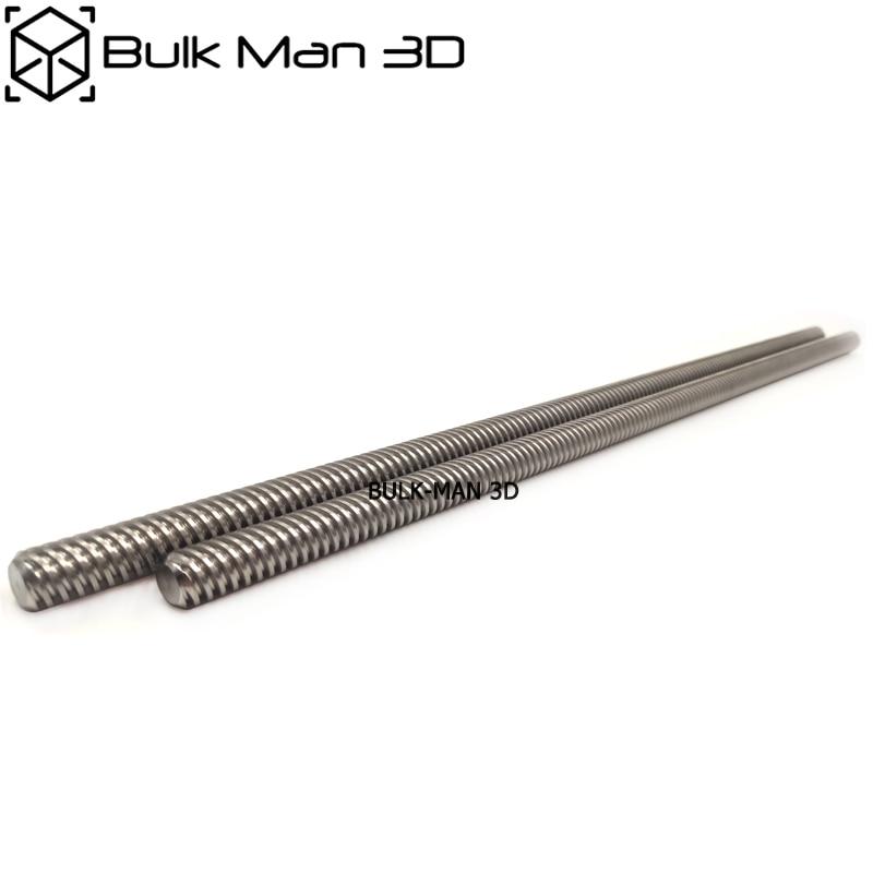 الفولاذ المقاوم للصدأ 8 مللي متر T8 Acme مسمار الرصاص T8 شبه منحرف قضيب الخيوط لآلة CNC ، أجزاء الطابعة ثلاثية الأبعاد ، الملحقات