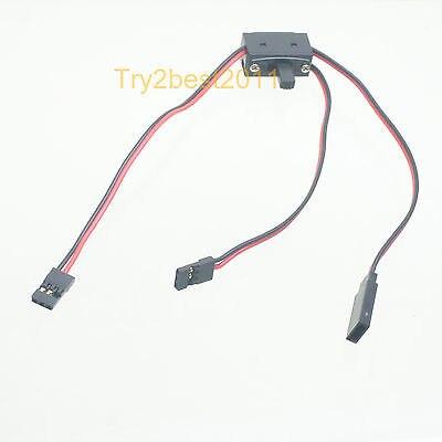 3 Way Power on/off schakelaar met JR FUTABA Ontvanger cord voor RC Boot Auto Vlucht