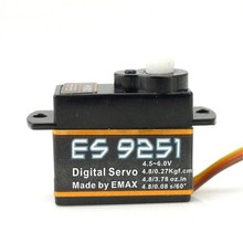 Микро-серводвигатель Emax ES9251 2,5g, пластик, микро цифровой сервопривод для радиоуправляемой модели, гоночный Дрон, высокое качество