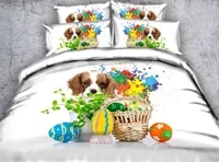 dog bedding set luxury 3d duvet cover sets cotton bed sheets sheet linen california king queen size full twin bed in a bag 4pcs