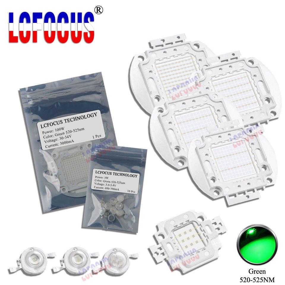 Haute Puissance LED COB Lampe Ampoules SMD Puce 1 W 3 W 5 W 10 W 20 W 30 W 50 W 100 W 200 W 300 W 500 W Vert 1 3 5 10 20 30 50 100 300 500 W Watt