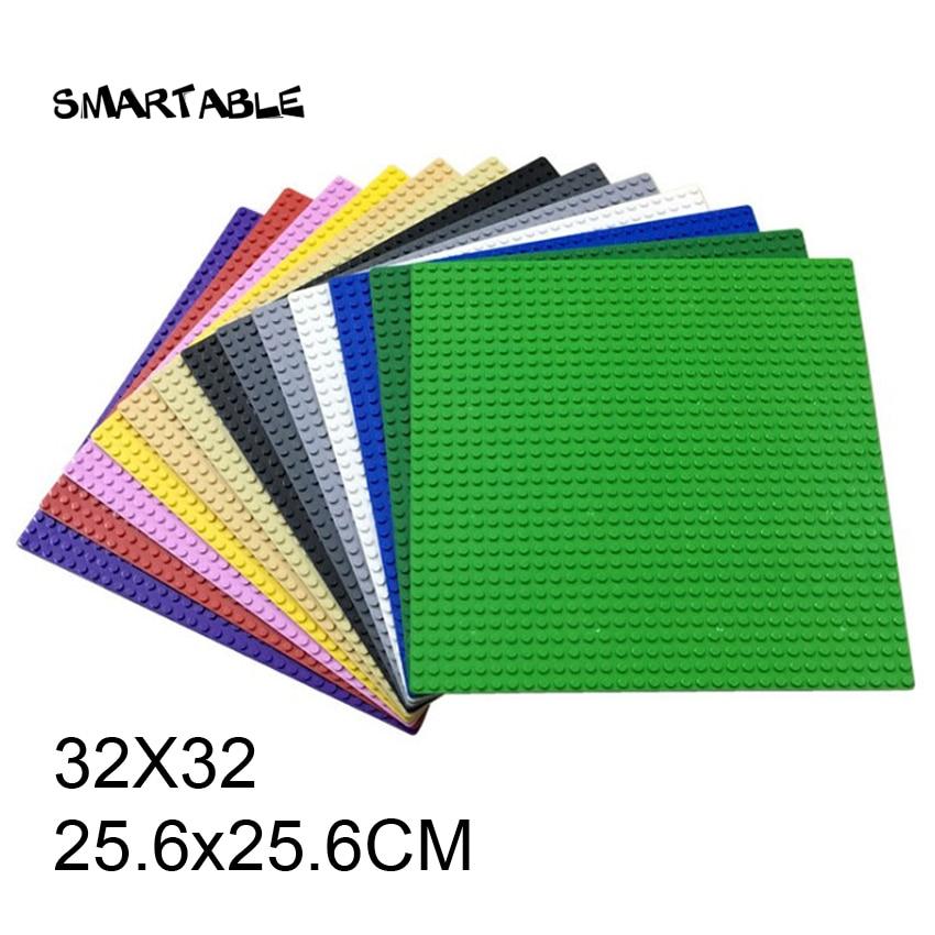 Smartable Baseplate 32X32 для небольших кирпичей DIY строительные блоки части игрушки Совместимые все бренды 3811 Рождественский подарок 3 шт./лот