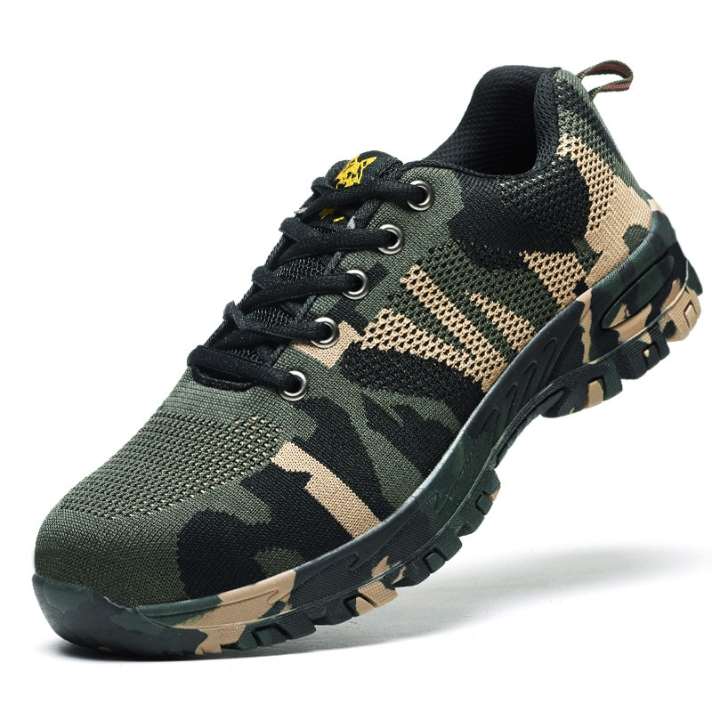 AC12009 Safety Shoes Air-permeable Smash Breathable Work Safety Shoes Puncture Breathable Lightweight Casual Work Shoes Acecare