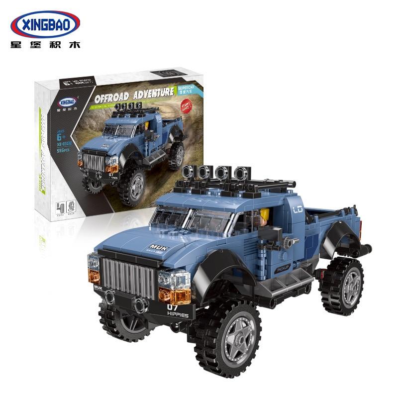 Juguetes de ensamblaje XINGBAO 03032, juego de recogida de coches, bloques de construcción, juguetes de Chico, juguetes compatibles con regalos para coche