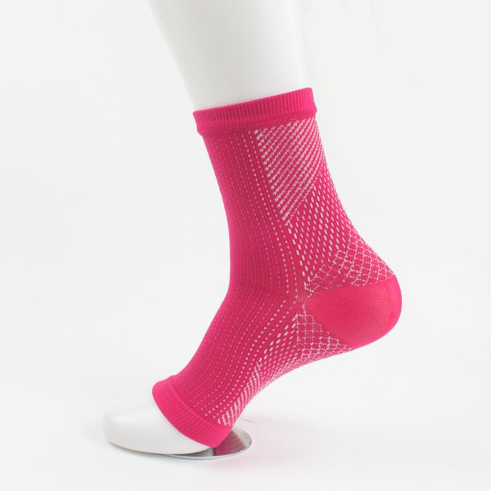 Hot Comfort Foot Anti Fatigue Crew Socks Compression Sleeve Relieve Swelling Women Men Anti-Fatigue Socks Red Casual Sport Socks