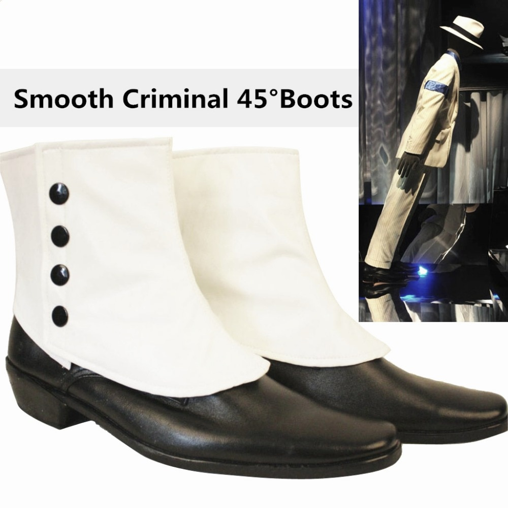 Raro mj michael jackson suave criminoso fácil 45 graus magia incrível inimaginável inclinando sapatos botas mostram moonwalk 1990-1995 s