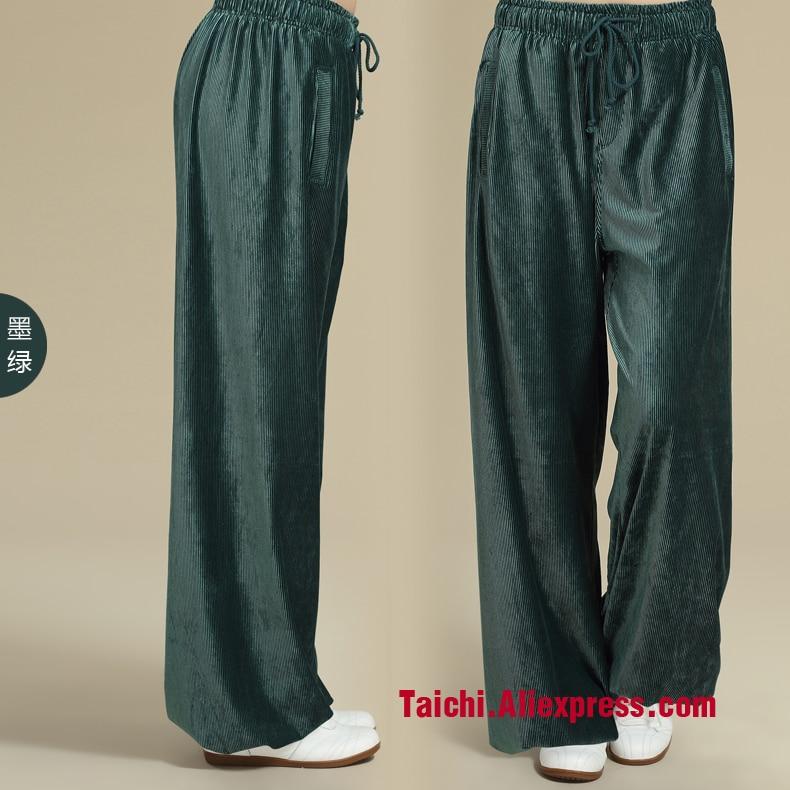 Китайские мужские и женские брюки для занятий Тай-Чи, вельветовые брюки для домашнего интерьера, спортивные штаны для занятий йогой