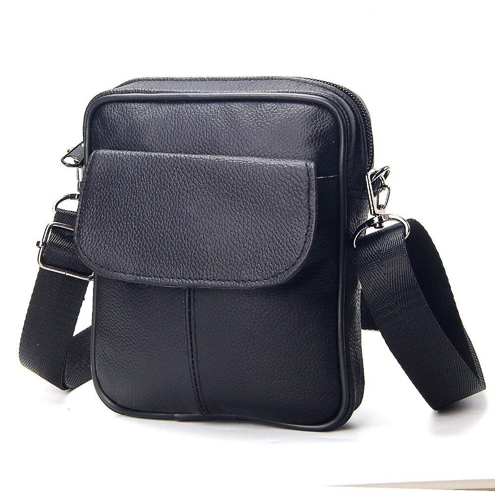 Novo couro de vaca preto mini sacos de ombro único portátil dos homens negócios breve design couro genuíno masculino crossbody saco