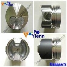 Pièces de réparation de moteur Diesel   Pour Yanmar 3TNA72 Piston 119620-22050 STD pour TAKEUCHI TB015 pelle