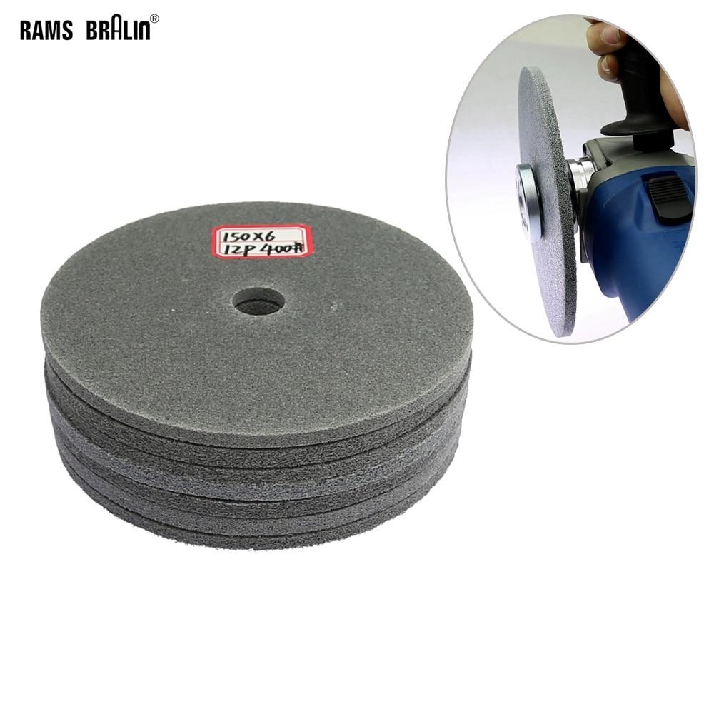 1 vnt. 150 mm plonas nailono poliravimo diskas, skirtas šlifuoti nerūdijančio plieno suvirinimo vietoje