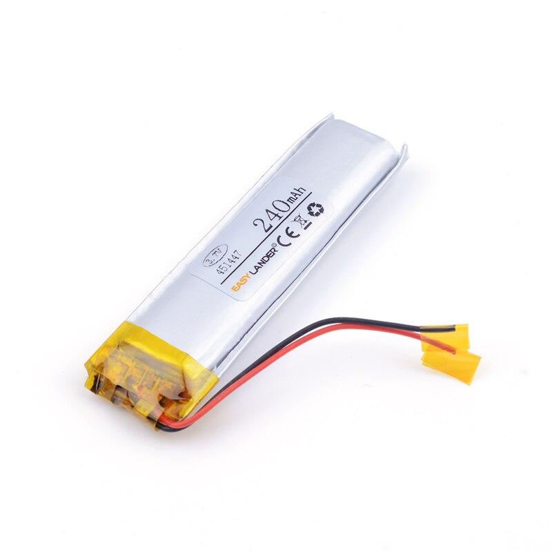 Batería recargable de polímero de iones de litio 451447 240mAh 3,7 v para auriculares Bluetooth gafas 3D reloj inteligente pulsera deportiva