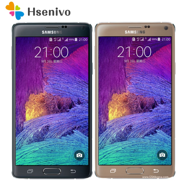 "Samsung Note 4 Refurbished-Original unlocked Samsung Galaxy Note 4 N910A N910F N910P Cell Phone 5.7 "" 16MP 3GB 32GB Phone"