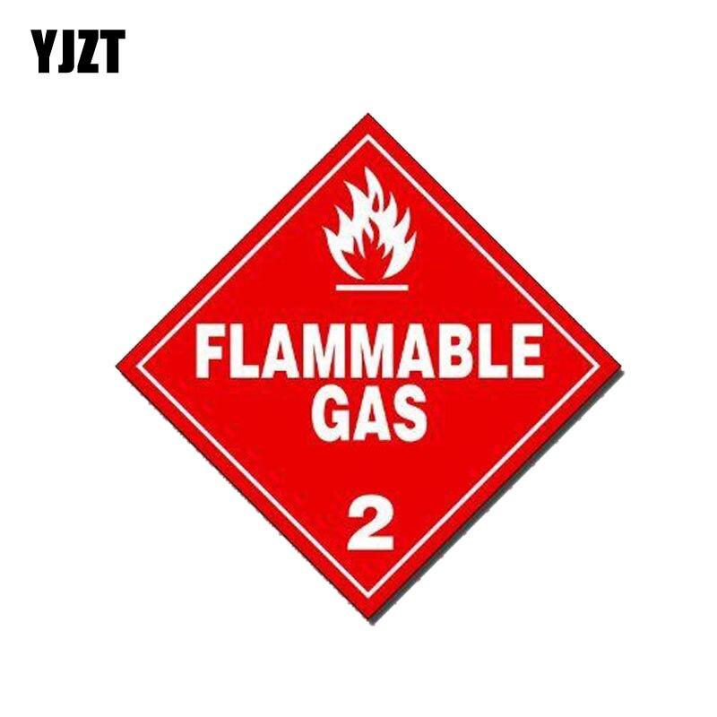 Yjzt 13 cm * 13 cm engraçado gás inflamável personalidade pvc decalque carro adesivo 12-0197