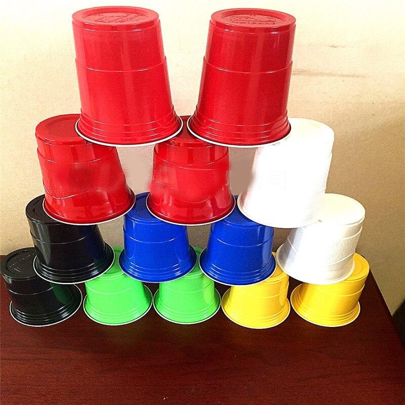 Vaso de plástico de cerveza roja de 16OZ para la Copa Song, taza de bebida fría desechable para la canción de la cerveza, tazas de fiesta, no usar para bebidas calientes 100 unids/lote