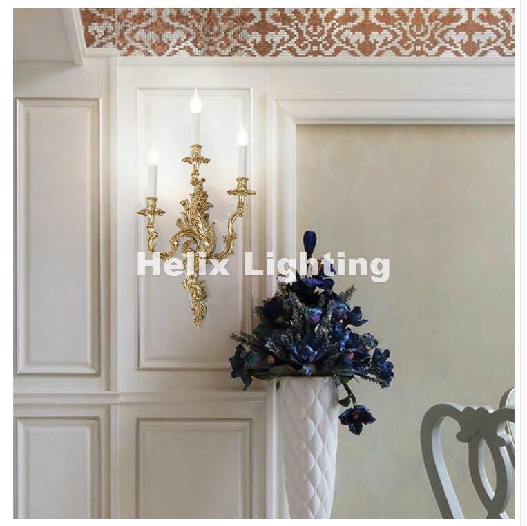 Lámpara de pared de salón de latón E14 AC, aplique de pared,...
