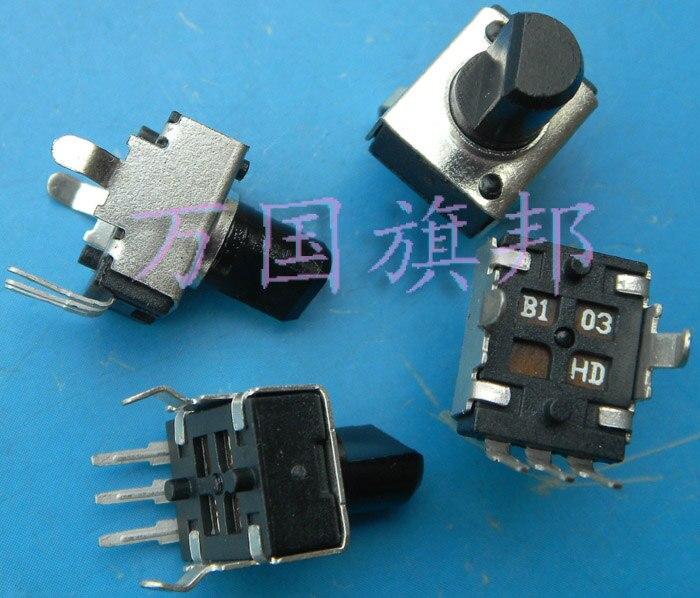 Delivery.09320902 potenciômetro b103 10 b10k k pequeno eixo vertical metade