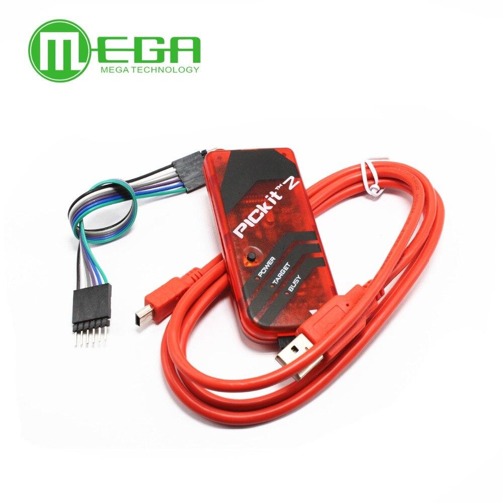 PICKIT2 PIC Kit2 Simulator PICKit 2 מתכנת Emluator צבע אדום w/USB כבל Dupond חוט