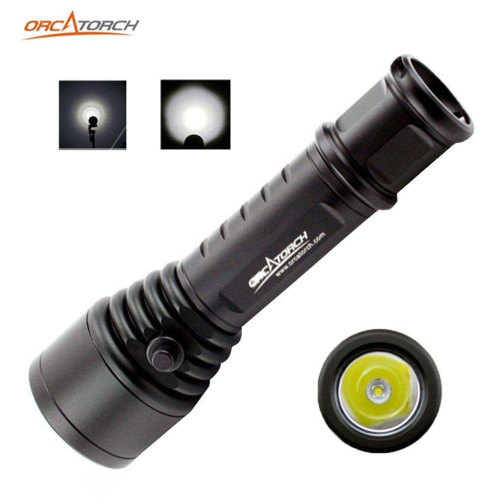 ORCATORCH D500 светодиодный фонарь для дайвинга CREE XML2 U4 портативный фонарик лучший