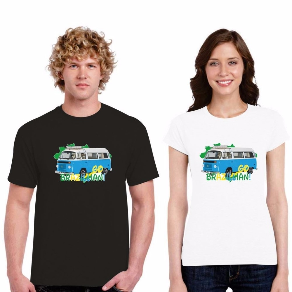 Camisetas de descuento para hombres Camiseta de cuello redondo Vdub Camper Van Bus importado Bahía ventana camiseta brasileña