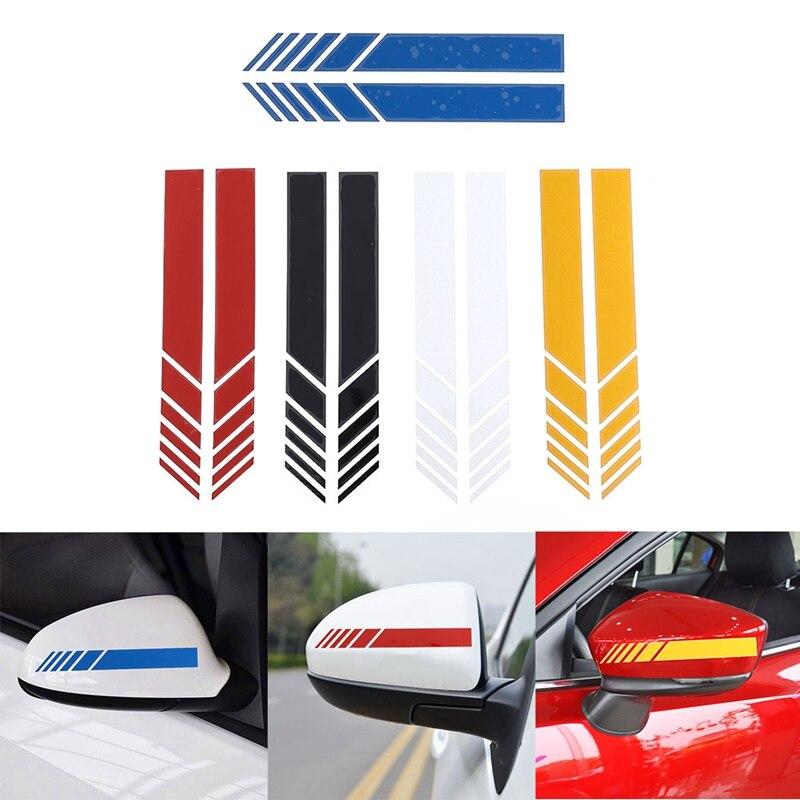 2 unids/lote estilo de coche Auto SUV vinilo gráfico etiqueta engomada del coche retrovisor espejo lateral Etiqueta de coche DIY cuerpo calcomanías