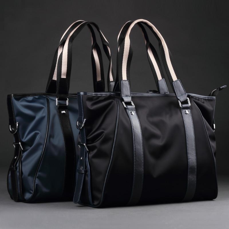 موضة نايلون نسيج واحد حقائب كتف عادية Swagger حقائب جلد طبيعي حقائب الرجال الذكور وحقائب كروسبودي (XW5001)
