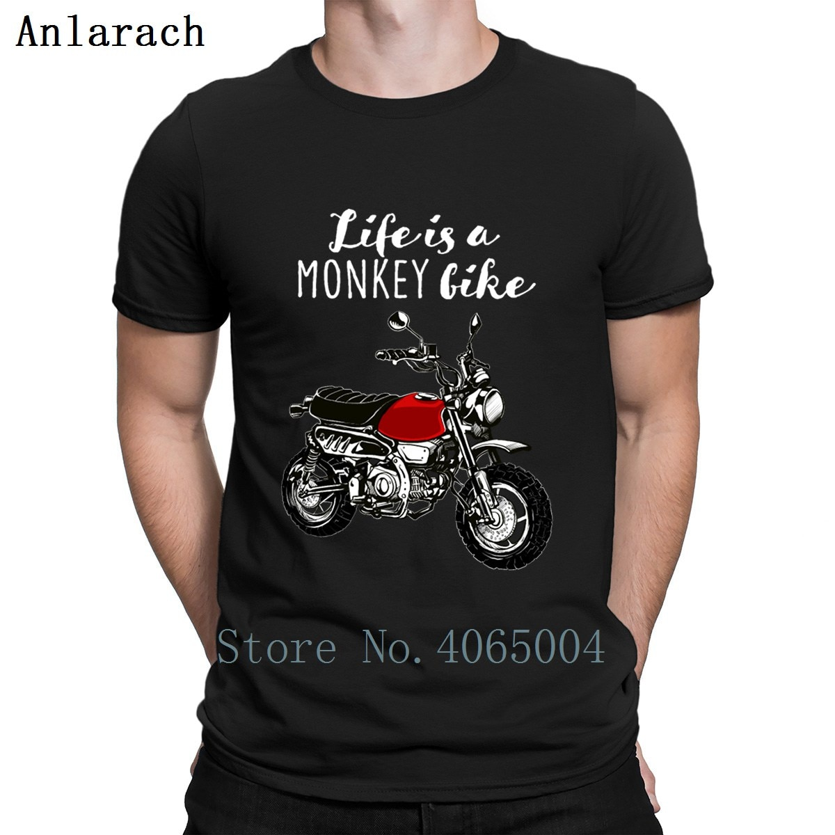 Life Is A Monkey Bike Motorcycle T Shirt Building Designer Cotton Plus Size 3xl Streetwear Unique Interesting Summer Style Shirt