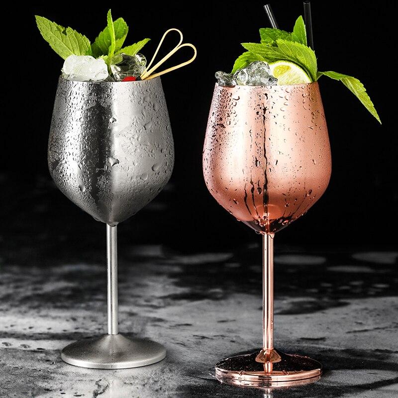 Copa de vino tinto de acero inoxidable 304 copa de champán copa de fiesta copa de whisky de 500ml
