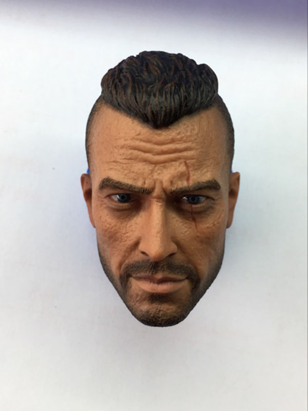 Cabeza de jabón de fantasma de Call of Duty 2,0 1/6, cabeza de soldado esculpida D, estrás militar para accesorios de figuras de acción de 12 pulgadas, juguete