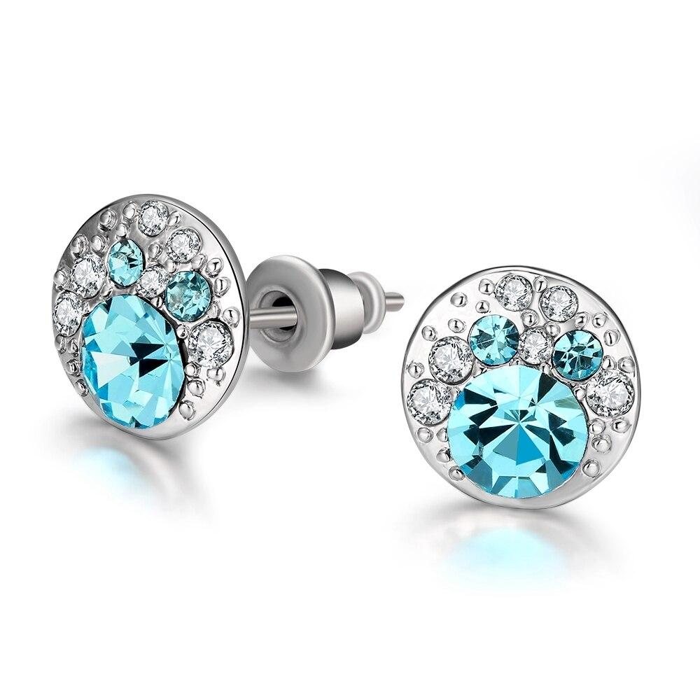LEKANI 2019 joyería fina colgante de corazón de cristal pendientes de gota Cristal de Swarovski para el día de la Madre Regalos de las mujeres