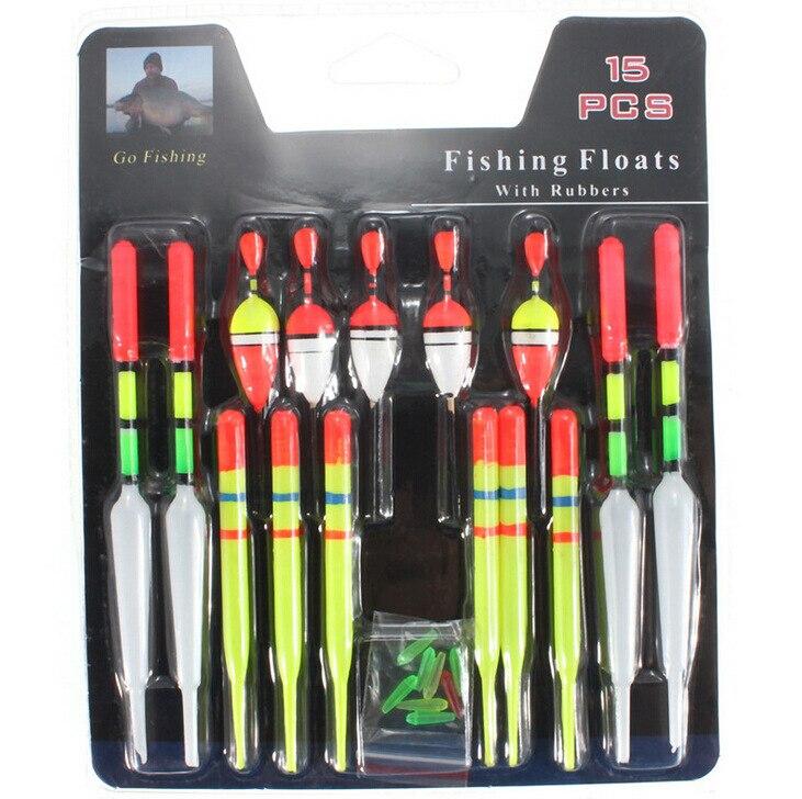 15/nano manga de plástico 13 cm cola larga boya carpa pesca flotadores equipo de pesca ojo de pez alarma flotadores envío gratis