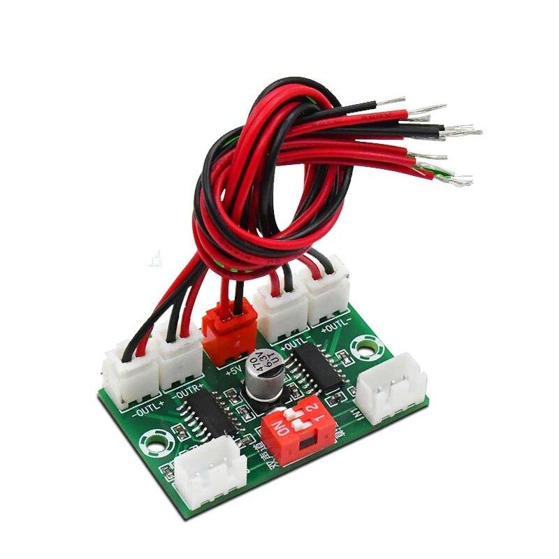 Amplificador de áudio digital 4*3w pam8403, mini amplificador de áudio digital com 4 canais, módulo diy, 5v placa de placa