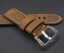 Haute qualité cheval fou sport hommes bracelet en cuir 20mm 22mm 24mm 26mm bracelet fait main pour panerai Oris citoyen pour Omega