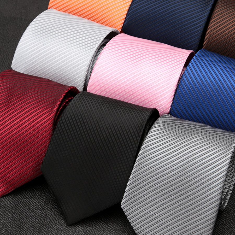 Mens Ties Solid Stripe Jacquard Necktie Accessories Fashion Design Neck Tie for Men Formal Business Wedding Party Gift Gravatas недорого