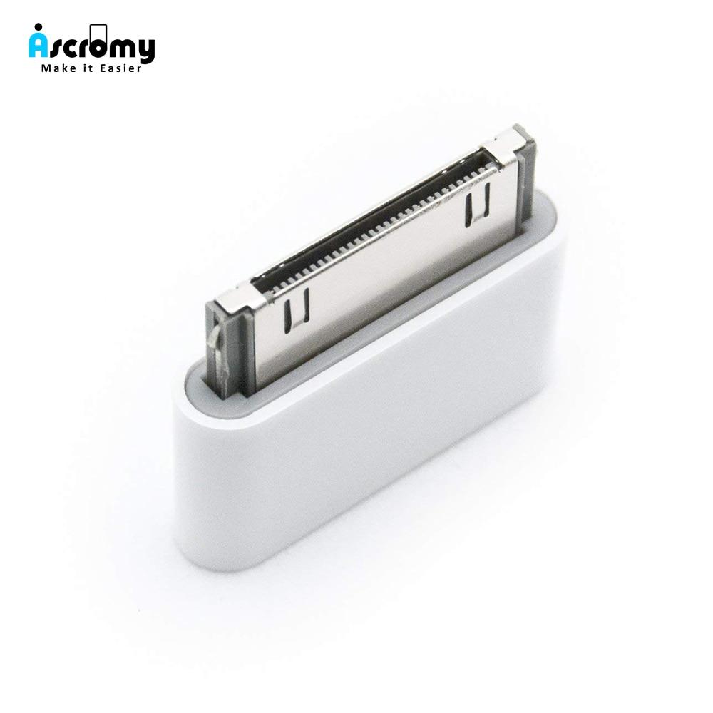 Женский Micro USB-30 контактный разъем для Apple iPhone 4 4S iPhone4S 3gs ipad 1 2 3 ipod зарядный кабель адаптер Аксессуары