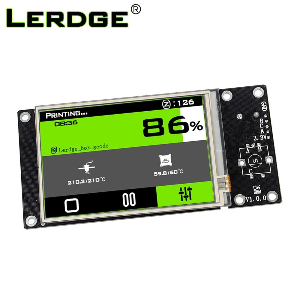 Imprimante 3D LERDGE pièces 3.5 pouces écran tactile couleur haute résolution pour bras 32 bits carte contrôleur 3.5
