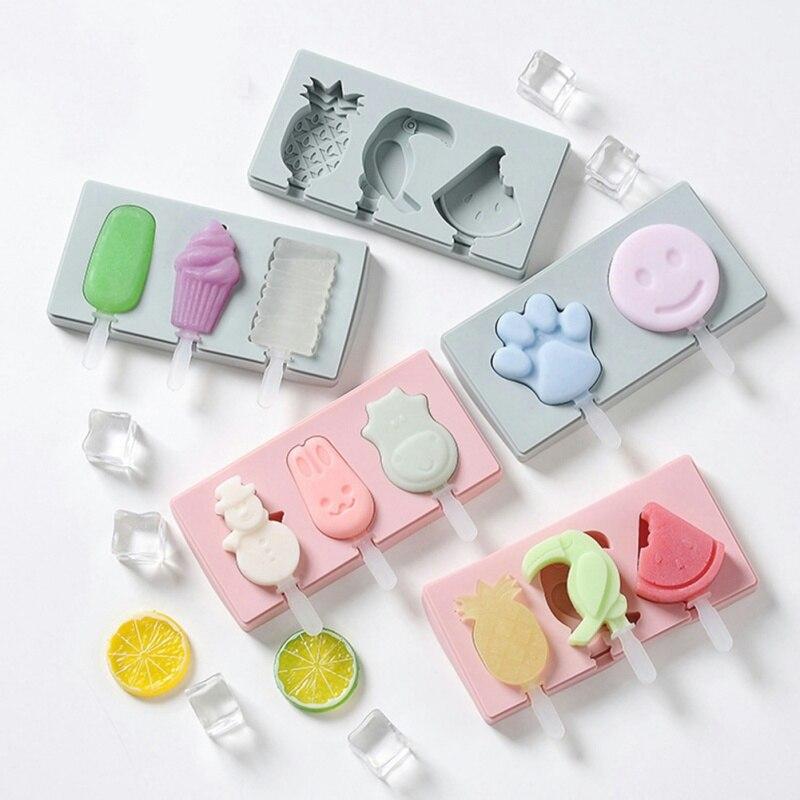 18x10 cm DIY molde de helado para hacer helados bandeja de moldes de postre con Material grueso de paleta para los niños