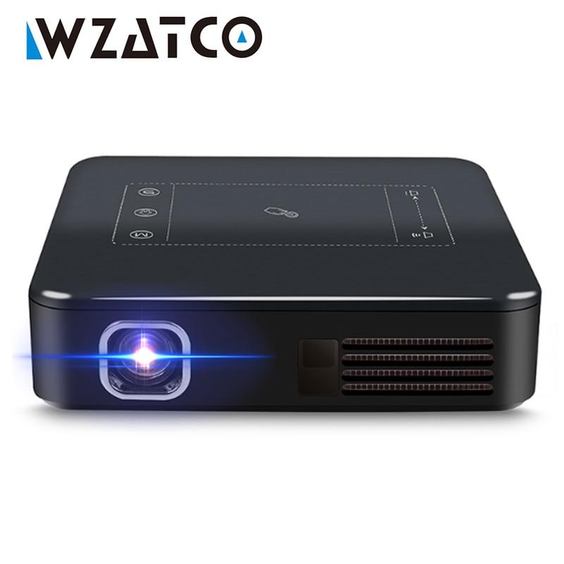 WZATCO-miniproyector de bolsillo D13 para cine en casa, dispositivo portátil con Android...